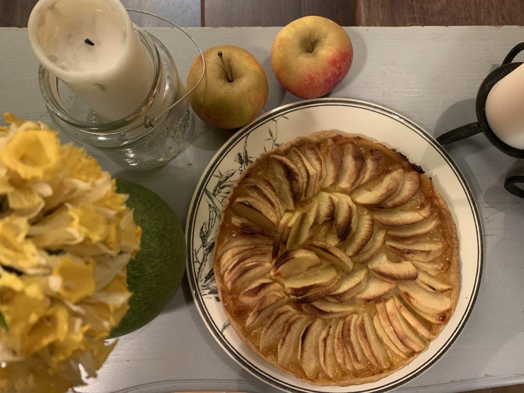 tarte aux pommes au lemon curd