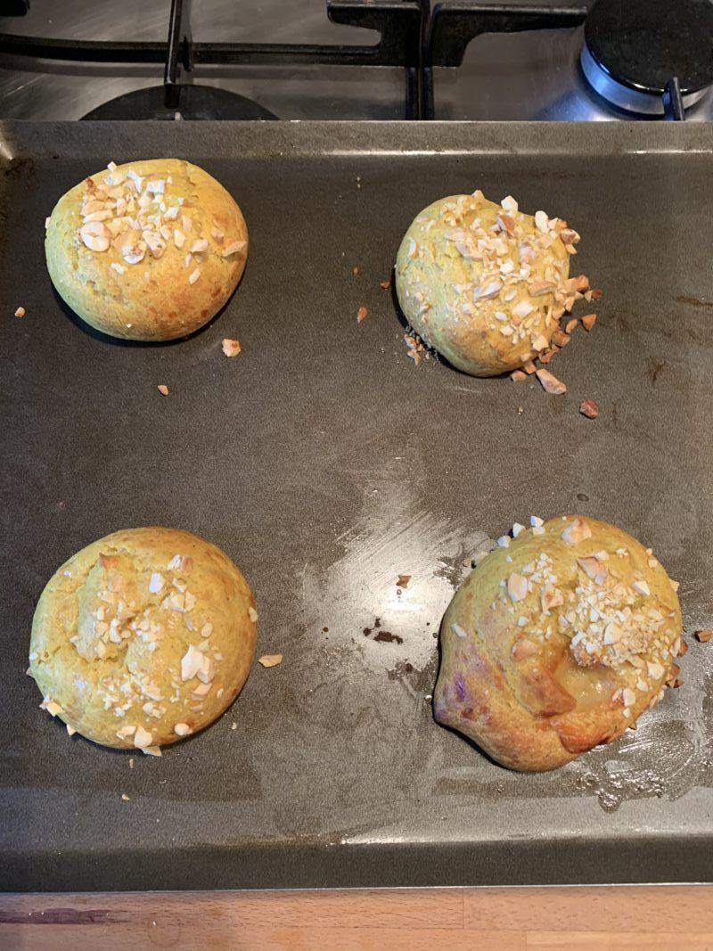 cuisson des gougères à la noix de cajou