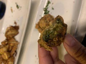 beignet ortiguillas de mar ou anémones de mer