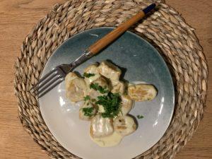 gnocchi de courge de Hongrie sauce au gorgonzola