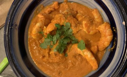 butter shrimp crevettes à l'indienne