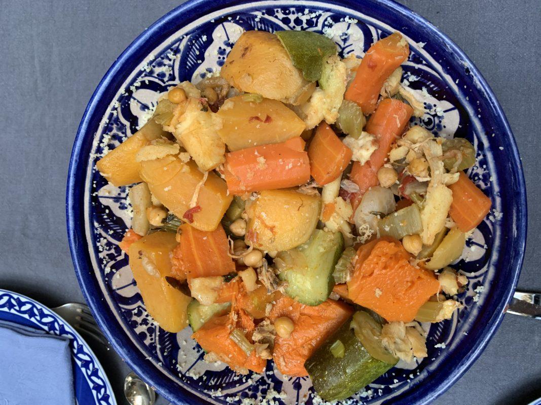 légumes du couscous cuits
