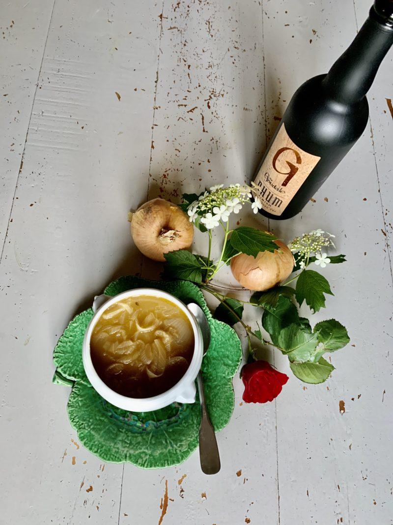 soupe bière brune et oignon, recette canadienne