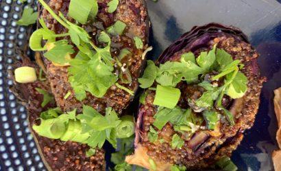 minis choux rouge rôtis aillet et persil