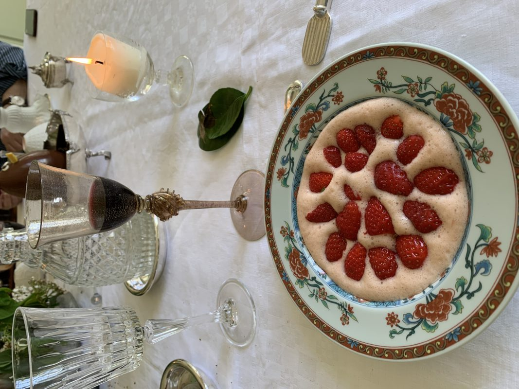 sabayon aux fraises, délicieux dessert printanier