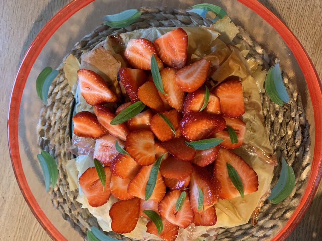 pastilla rhubarbe fraises et verveine